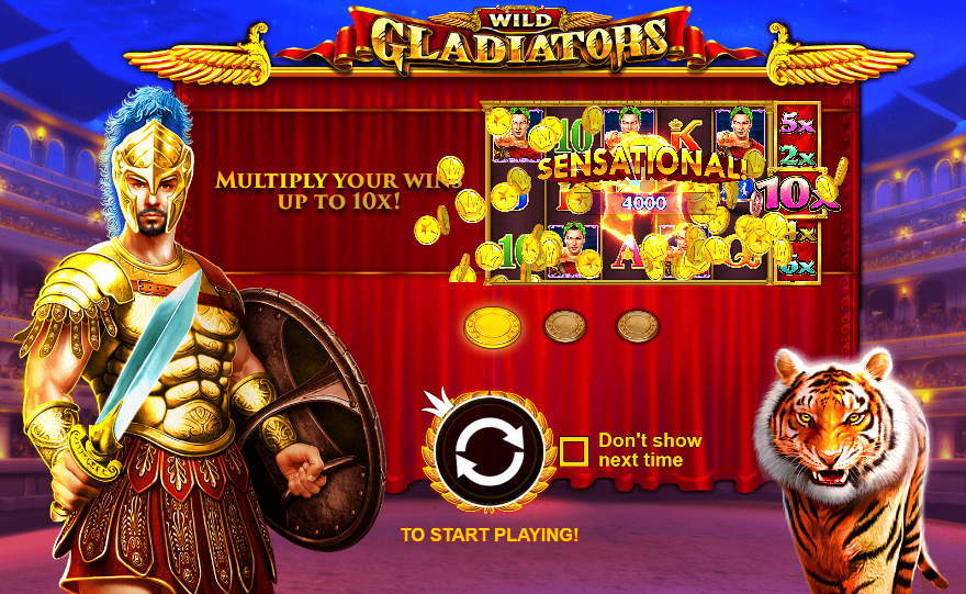 wild gladiators free spin slot online
